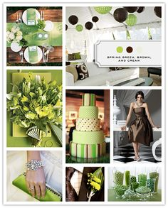 Spring Green, Brown, and Cream
