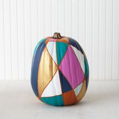 Painted Pumpkin Decor: Stained Glass