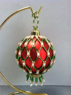 Beaded Ornament Cover- made 2013