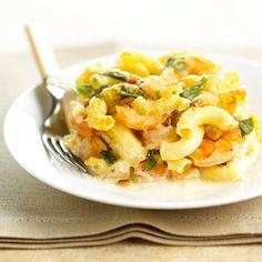 Pesto Shrimp Mac & Cheese