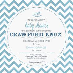 chevron baby invitation design