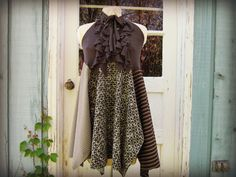 brown sage, boho chic, women cloth, upcycl boho, redesign women