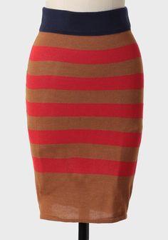 Bold Strides Striped Knit Skirt | Ruche