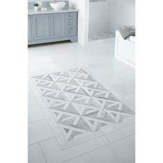 Bianco Carrara Thassos Parquet Marble Mosaic - 12 x 12 - 100463413 | Floor and Decor