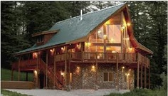 log cabin in the woods - Google Search