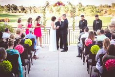 Real Wedding ♥ Jamie and Phil ♥ Outdoor ceremony #golfcoursewedding #outdoorwedding #outdoorceremony #desertwedding #californiawedding #palmspringswedding #palmdesertwedding #southerncaliforniawedding #ido