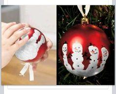 Snowman handprint orniment.