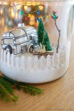 jar christma, christmas crafts, cooki jar, picket fenc, ornament, hobbi lobbi, cookie jars, christma craft