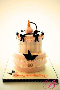 elegant boudoir cake