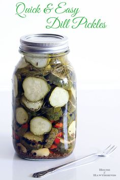 Quick and easy recipe for Dill Refrigerator Pickles