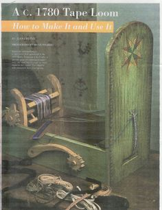 tapebox loom, inkl loom, tapes, the secret, secret tape, histor weav, tape loom