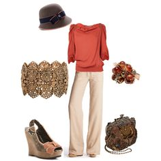 Love this hat and this color!, created by amyjoyful1.polyvore.com