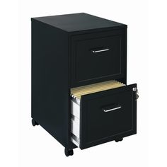 CommClad Home Office 18 Deep 2 Drawer Vertical Mobile File Cabinet | Wayfair $35.50