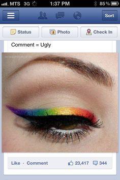 Pride makeup?