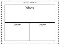 Addition, subtraction, missing number, related facts... Use this awesome part, part, whole mat for anything and everything!