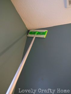 Clean walls: dust with swiffer then wipe down with vinegar water
