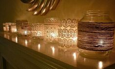 Laced candle holders