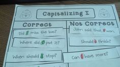How to teach capitalizing I