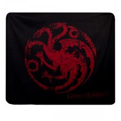 Game of Thrones Distressed House Targaryen Fleece Blanket