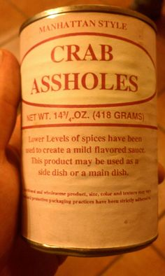 crab assholes? what is that?