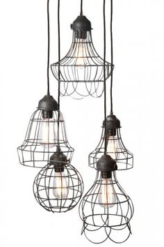 Wire Five-Light Pendant