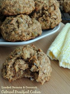 Loaded Banana & Coconut Oatmeal Breakfast Cookies - Cozy Country Living