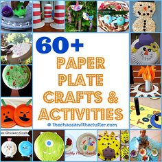 over 60 Paper Plate Crafts  Activities at The Chaos and The Clutter homeschool crafts, paper plate art, craft activities, kids paper plate craft, paper plates crafts, paper plate crafts, paper plate activities, kids art activities, paper activities