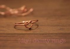 Heart infinity wire ring, or knot, or double heart, or initial, words like yes, love, luv, etc.