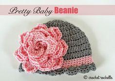 FREE Pattern - Crochet Rochelle: Pretty Baby Beanie