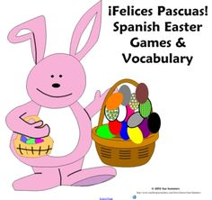 Spanish Easter Games, Activities and Vocabulary - La Pascua - 8 pages of games and activities and 2 pages of Easter vocabulary