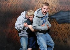 OMG....a whole page of photos from a hidden camera in haunted house...laughed so hard I cried!!