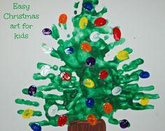 easy christmas art for kids