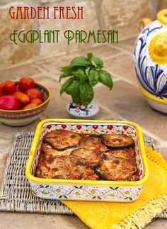Italian Food Forever » Garden Fresh Eggplant Parmesan. A lighter version of a traditional Italian favorite.