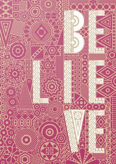 Believe #typography #illustration