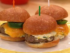 Jalapeno Popper Sliders... look and sound delicious