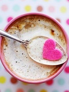 cup, heart, hot chocolate, valentine day, sugar cubes, cocoa, pari, coffee, pink