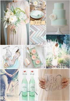 Mint To Be Wedding Inspiration Board from Love My Way