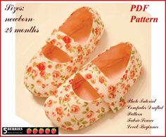 Baby PATTERN Baby Shoes Sewing PDF Pattern Mary Jane Shoes toddler children girls