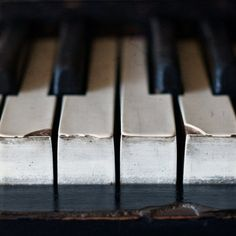 Well worn keys - The Piano by Julie Rideout