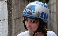 geek, nerd, star war, stuff, helmets, r2d2helmet, bike helmet, thing, r2d2 helmet
