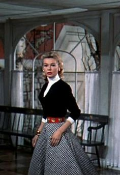 "Vera-Ellen in 1954's ""White Christmas"". Wearing an outfit designed by Edith Head. Love this."