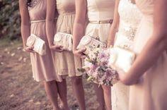 Bridesmaid gifts / Set of 4 / Monogram Clutch