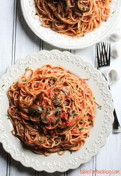 Garlic Pasta » Table for Two