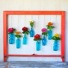 Window Frame Floral Wall Art DIY | Kiana Underwood | Tulipina.com