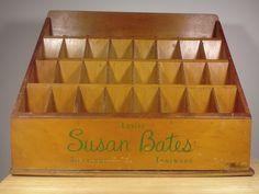 Vintage Wooden Susan Bates Knitting Needle Store Display Stand Rack | eBay