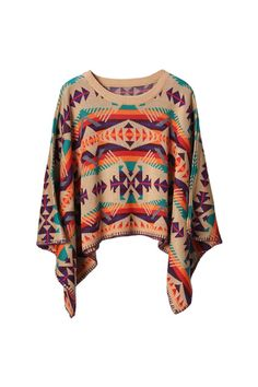 colorful poncho.