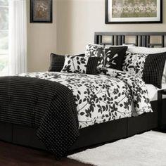 Piece Queen Arezzo Black And White Bedding Comforter Set