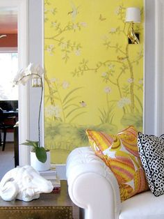 DIY wallpaper panels. tutorial included