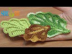 folhas de crochê - video