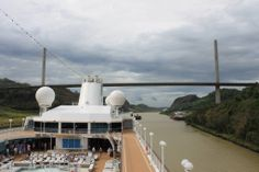 On an Azamara cruise through the Panama Canal.